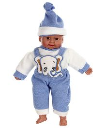 Tickles Laughing Baby Doll Sky Blue And White - Height 36 cm