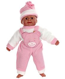 Tickles Laughing Baby Doll Pink And White - Height 36 cm
