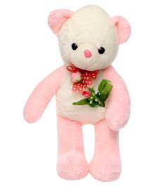 Tickles Teddy Bear With Rose Applique Light Pink - Length 32 cm