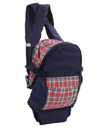 3 in 1 Soft Baby Carrier Checks Print - Navy Blue