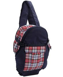 3 in 1 Soft Baby Carrier Checks Print 2006 - Blue And Red