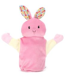 1st Step Hand Puppet Bunny Face - Pink