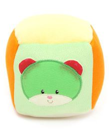 1st Step Baby Cube Bear Face - Green And Orange