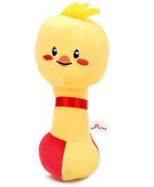 1st Step Soft Rattle Baby Bird Face - Yellow