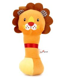 1st Step Soft Rattle Lion Face - Orange