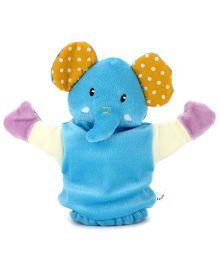 1st Step Hand Puppet Elephant Face - Blue