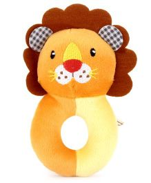 1st Step Soft Ring Rattle Lion Face - Blue