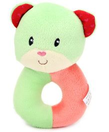 1st Step Soft Ring Rattle Bear Face - Green