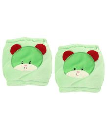 1st Step Velour Knee Protector Bear Face - Green