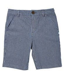 ShopperTree Denim Yarn Dyed Stripe Shorts - Blue