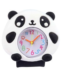 Slap Style Analog Watch Panda Design - Black And White