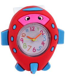 Slap Style Watch Helicopter Design - Red And White