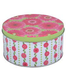 L'Orange Round Box With Floral Patterns - Pink