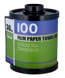 L'Orange Film Roll Pattern Tissue Holder Meduim -Green And Blue
