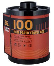 L'Orange Film Roll Pattern Tissue Holder Meduim- Rust