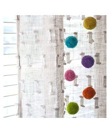 L'Orange Curtain Magnets Marshmallow Pack of 6 - Multicolour