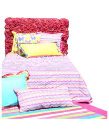 L'Orange Double Bed Cover Kaleidoscope Print - Pink