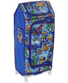 Lovely Almirah Four Shelves Storage Unit Animal Print - Blue