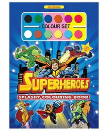 Splashy Colouring Book - Superheroes