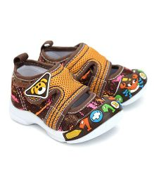 Kittens Shoes With Velcro Closure Puppy Patch - Brown