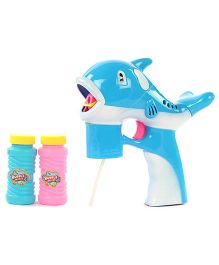 Fish Design Bubble Gun - Blue And Pink