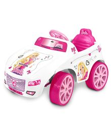 Marktech Battery Operated Ride On Barbie Car - Pink And White