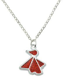 Angel Glitter The Little Birdy Pendant Necklace - Red