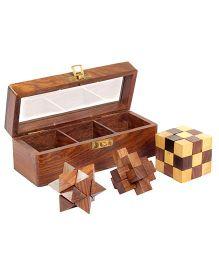 Desi Toys Wooden Teen Paheli