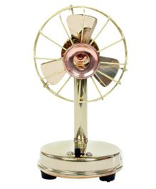 Desi Toys Brass Fan Miniature Working With AA Batteries