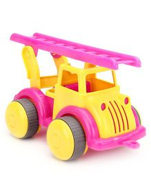 Flexi Fire Engine Large - Yellow And Pink
