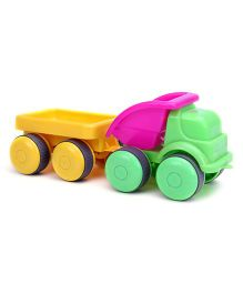 Flexi Dumper Truck With Trailer - Green Pink And Yellow