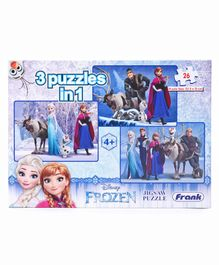 Disney Frank Frozen Jigsaw Puzzle 3 in 1 - 26 Pieces