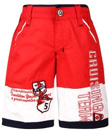 Noddy Cruising Team Print Shorts - Red