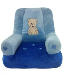 Soft Buddies Plush Baby Chair - Blue