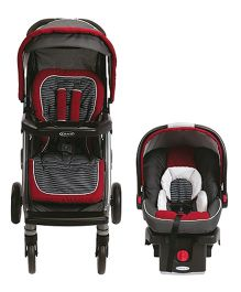 Graco Soho Click Connect Travel System Presley - Maroon And Black