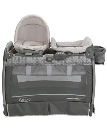 Graco Pack n Play Playard With Nuzzle Nest Sway Seat Finland - Grey