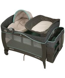 Graco Pack n Play Playard With Newborn Napper Station Deluxe Cascade
