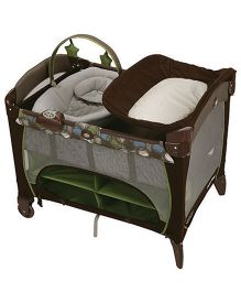 Graco Pack 'n Play Playard With Newborn Napper Station DLX Roundabout