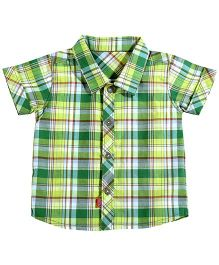 Absorba On-The-Go Green Checkered Shirt