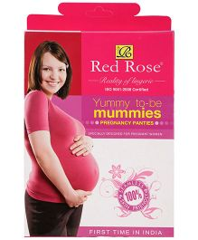 Red Rose Pregnancy Panty - Coffee Brown