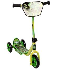 Marvel Hulk Three Wheeler Scooter - Green