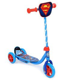 DC Comics Superman Three Wheeler Scooter - Blue And Red