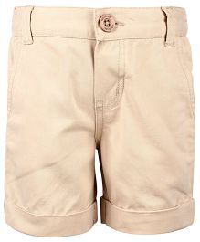Nauti Nati Plain Khaki Shorts - Khaki