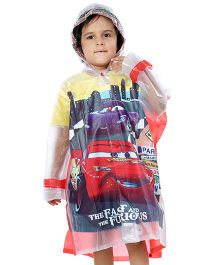 Babyhug Raincoat Fast And Furious Print - Red