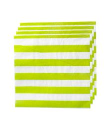 Partymanao Striped Napkin Pack Of 20 -Green