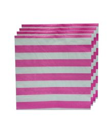 Smart Craft Striped Napkin Pack Of 20 - Pink