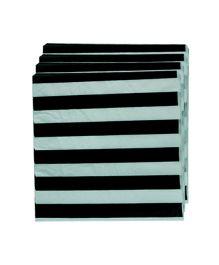 Smart Craft Striped Napkin Pack Of 20 - Black