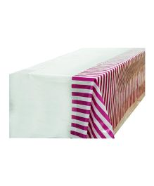 Partymanao Party Striped Plastic Tablecover - Purple