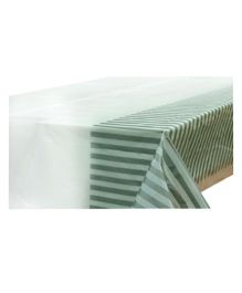 Partymanao Party Striped Plastic Tablecover - Silver