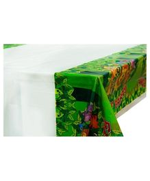 Smartcraft Birthday Party Jungle Print Plastic Tablecover - Green